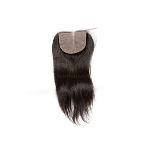 Natural Color Silk Straight Brazilian Virgin Hair Silk Base Closure 4x4inches