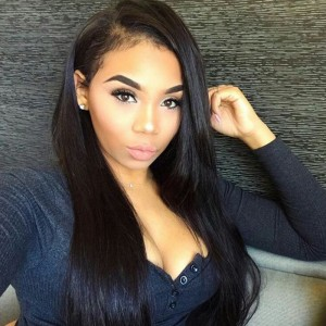 250% Density Straight Lace Front Wigs With Baby Hair Pre Plucked Wig