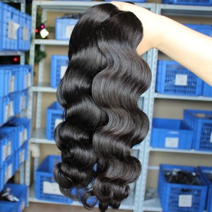 Natural Color Body Wave Indian Virgin Human Hair Weaves 3pcs Bundles