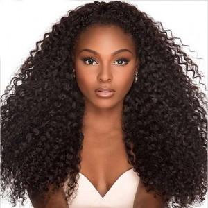 Natural Color Unprocessed Peruvian Virgin 100% Human Hair Deep Wave Full Lace Wigs