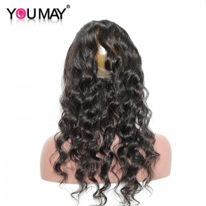 360 Lace Frontal Band Loose Wave Brazilian 360 Virgin Hair Lace Frontal With Natural Hairline