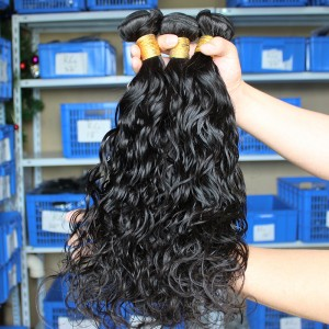 Natural Color Malaysian Virgin Human Hair Water Wet Wave Hair Weave 3 Bundles