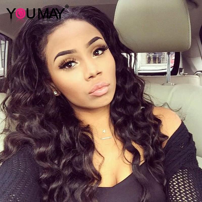 360 Lace Wigs Loose Wave Brazilian Full Lace Wigs 180% Density for Black  Women Human 265121525