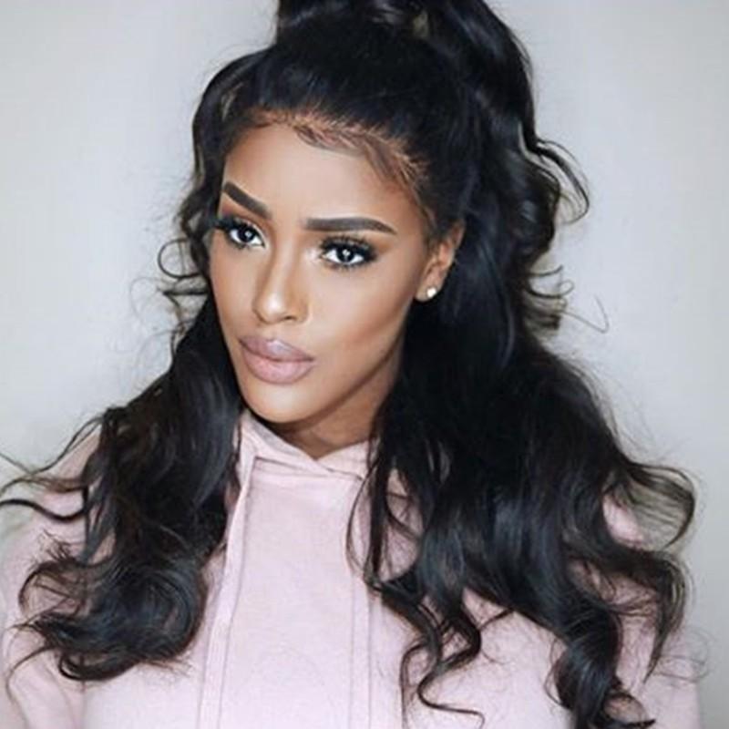 360 Lace Wigs 180% Density Body Wave Full Lace Wigs Human Hair Wigs ... 85839b5bb