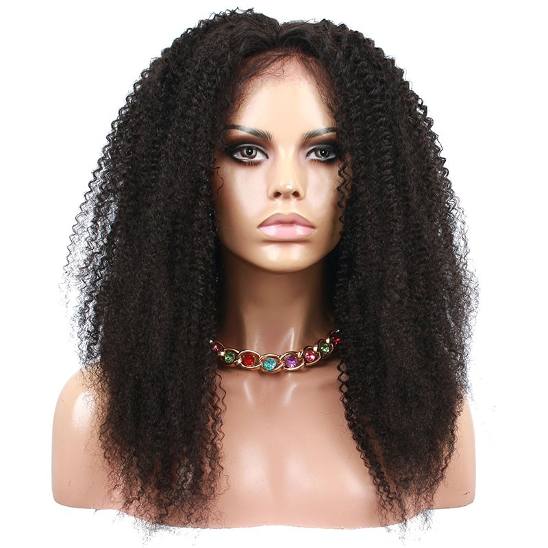 Natural Color Afro Kinky Curly Human Hair Brazilian Virgin Hair Full
