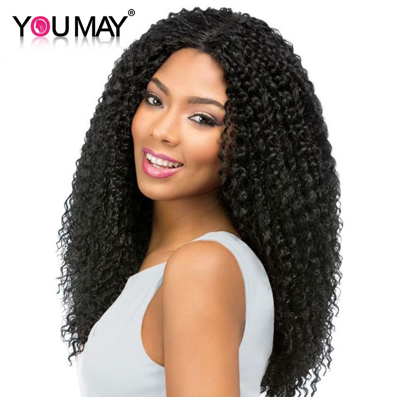80e086609 360 Lace Wigs Kinky Curly Lace Front Wigs With Baby Hair 180% Density Curly  Full