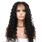 Loose Wave Brazilian Virgin 100% Human Hair Full Lace Wigs